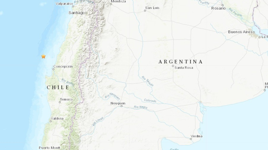 Sismo se registra en la costa de Chile