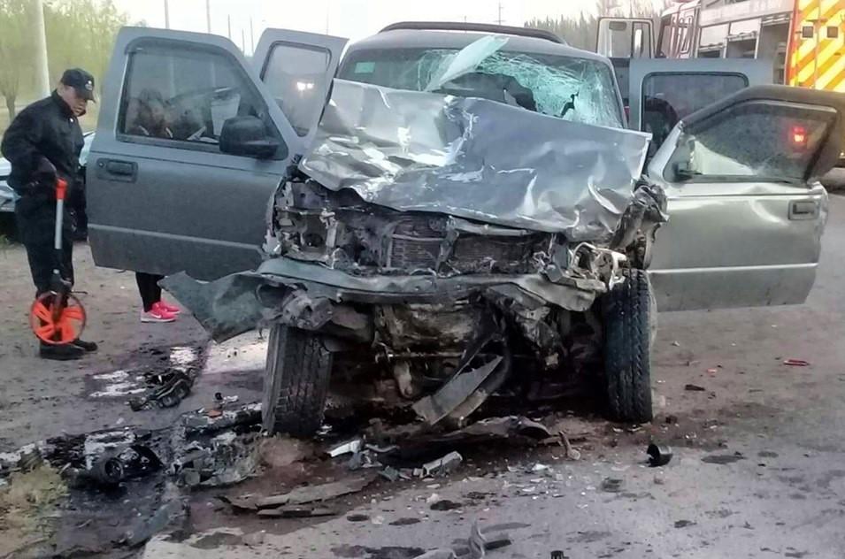 25 de Mayo: en un triple choque murieron un hombre y una mujer