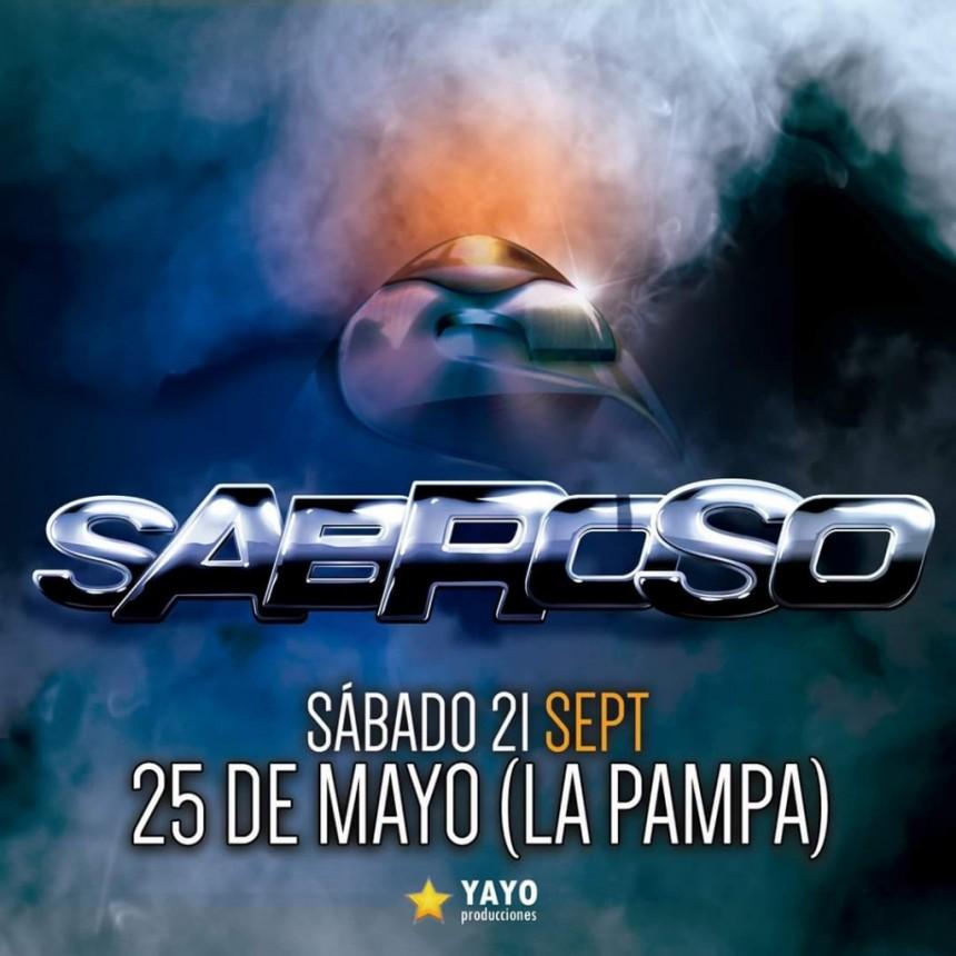 «SABROSO» SE PRESENTARÁ HOY 21 DE SEPTIEMBRE, EN 25 DE MAYO