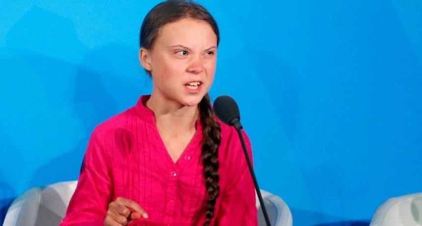 La ambientalista Greta Thunberg, 16 años, la participante más joven de Davos