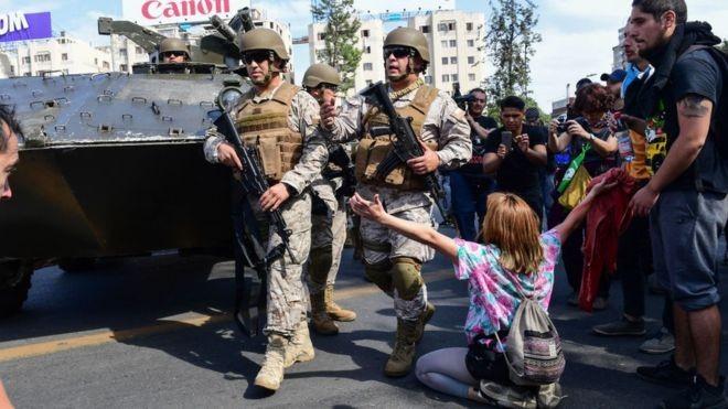 CHILE; PROTESTA, FUEGO Y MUERTES