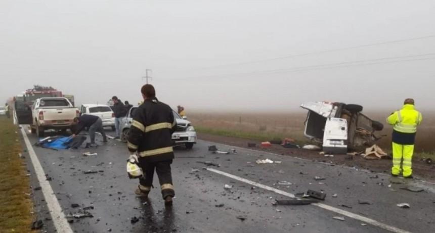 Dos accidentes en pocas horas en la misma zona de la ruta 205: dos muertos y seis heridos