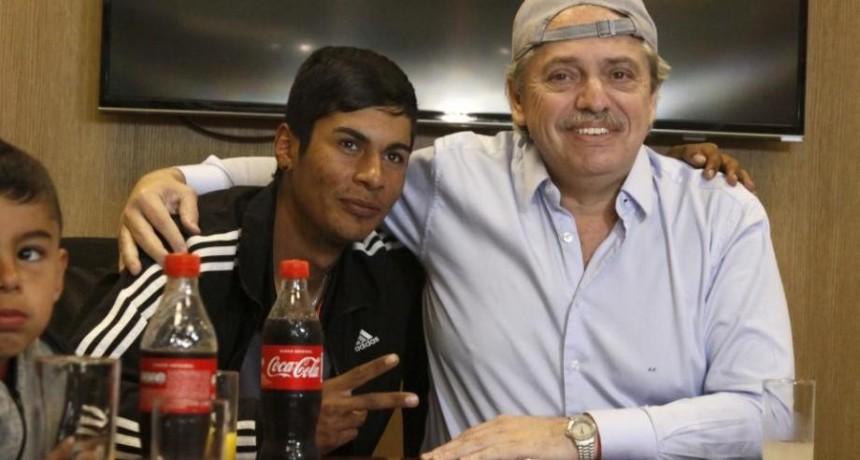 Alberto Fernández recibió a Braian, el presidente de mesa discriminado en redes sociales