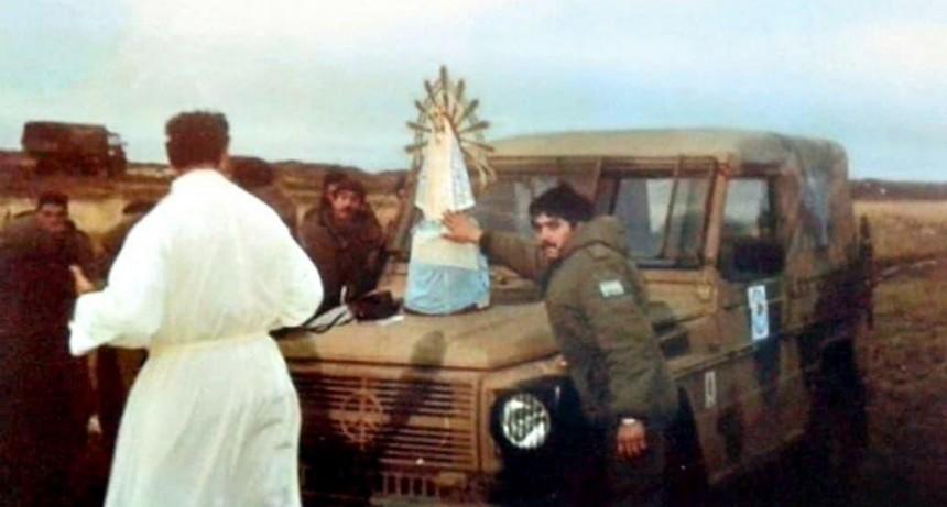 Llegó a Neuquén la virgen de Luján que estuvo en Malvinas